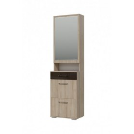 Шкаф Ривьера с зеркалом (2-3510дубрив.МДФ)