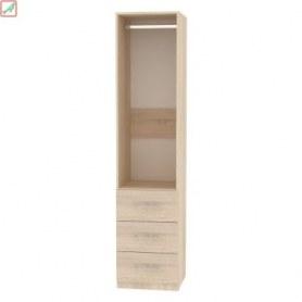 Шкаф Риал (H19) 198х45х45 ручка рейлинг, Белый
