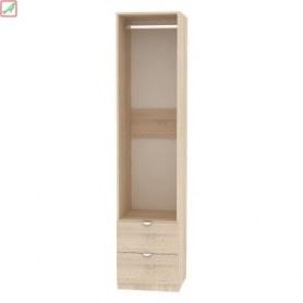 Шкаф Риал (H20) 198х45х45 ручка торцевая TR-2, Белый