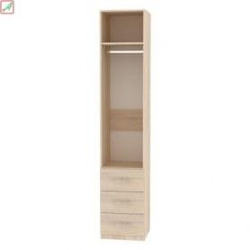 Шкаф Риал (H16) 230х45х45 ручка рейлинг, Венге-ДМ