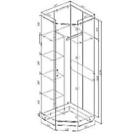Шкаф угловой Дуэт, без зеркала ПД5, венге/дуб млечный