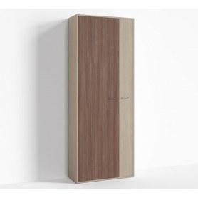 Шкаф широкий левый цвет 1, Крокус, ПР-ШС-1-4 Ясень шимо светлый- Ясень шимо темный