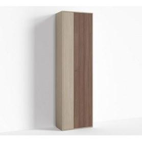 Шкаф узкий цвет 1, Крокус, ПР-ШС-1-2 Ясень шимо светлый- Ясень шимо темный