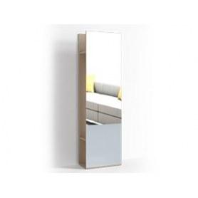 Стеллаж с зеркалом цвет 1, Крокус, ПР-ШС-1-1 Ясень шимо светлый