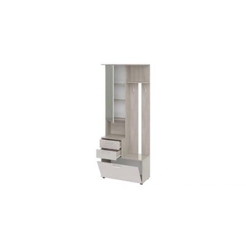 Шкаф-секция Витра комбинированная тип 1 (Ясень шимо/Бежевый фон глянец)