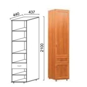 Шкаф Александра-1, ПР-4, шимо светлый, МДФ с кожзамом
