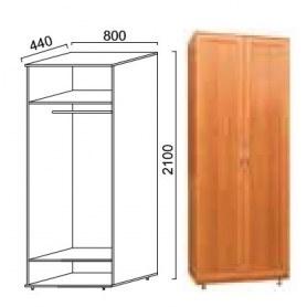 Шкаф двухдверный Александра, ПР-3, МДФ шимо темный/шимо светлый