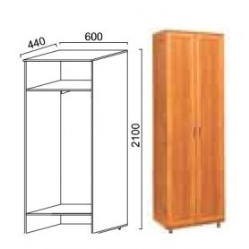 Шкаф двухдверный Александра, ПР-2, МДФ шимо светлый