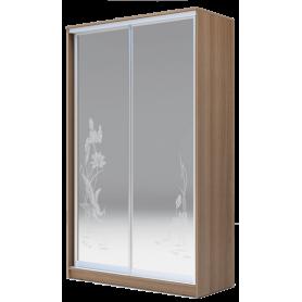 Шкаф-купе 2-х дверный 2400х1200х620 два зеркала, рисунок