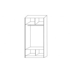Шкаф-купе 2-х дверный 2200х1200х620 с двумя зеркалами ХИТ 22-12/2-55 Ясень Шимо Светлый