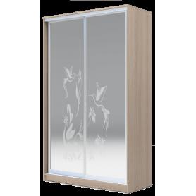 Шкаф-купе 2-х дверный 2200х1200х620 два зеркала, рисунок