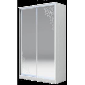 Шкаф-купе 2-х дверный 2200х1362х620 два зеркала, рисунок