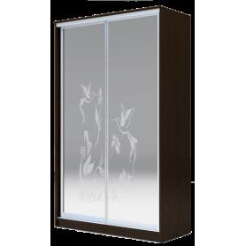 Шкаф-купе 2-х дверный 2200х1682х620 два зеркала, рисунок