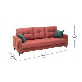 Прямой диван Черри Арт. ТД 176