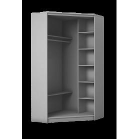 Угловой шкаф ГШУ-23-4-10-11, 2 двери ДСП, Белый