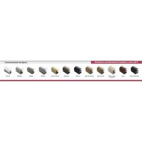 Шкаф-купе ГШ-23-4-12-13, зеркало-пескоструй/ДСП/ ДСП/зеркало-пескоструй, Белый/Роял/Серебро