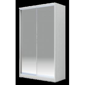Шкаф-купе 2-х дверный 2300х1500х420 Хит-23-4-15-88, Матовое стекло Белый