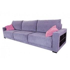 Прямой диван Тридэ БД, с полками