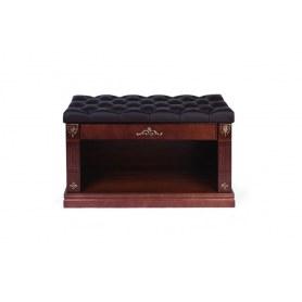Тумба для обуви (обувница) ПО 9-1, цвет темный тон/шоколад