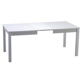 Кухонный обеденный стол Ногано 3 стекло белое opti