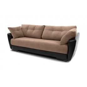 Прямой диван Амстердам, цвет Наполи 03 / SDB (ткань/кожзам)