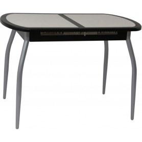 Кухонный стол Будапешт-2 new (хром, венге)