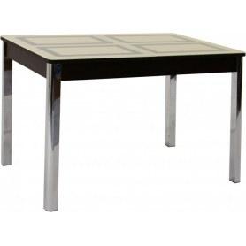Кухонный стол Ницца-2 рис.1 (хром, песочное/венге)