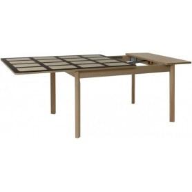 Кухонный обеденный стол Римини 2 (рис.0) хром-лак (оптивайт матовое)
