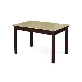 Кухонный стол раздвижной  №41 венге/стекло бежевое