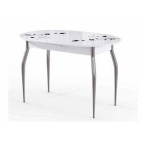 Кухонный стол раздвижной Фелиция белый