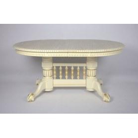 Кухонный стол раздвижной Азия слоновая кость