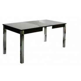 Кухонный обеденный стол Нагано-3 (хром-лак, венге, стекло песочное)