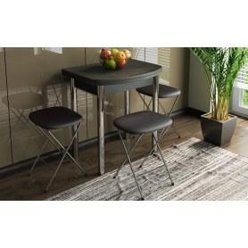 Обеденный стол Лион (мини) (СМ-204.01.2), цвет Венге/Хром