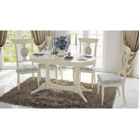 Обеденный раздвижной стол Ричмонд Т1, цвет Слоновая кость