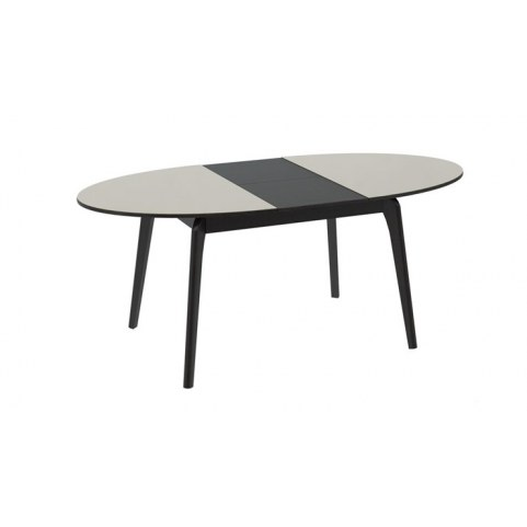 Обеденный раздвижной стол Марсель (СМ(Б)-102.01.12(1)), цвет  Венге/Стекло бежевое глянец