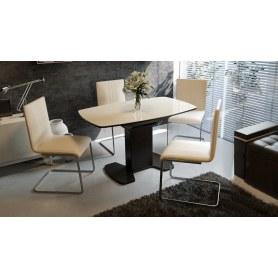 Обеденный раздвижной стол Портофино (СМ(ТД)-105.02.11(1)), цвет Венге/Стекло бежевое