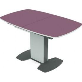 Кухонный стол Санторини (стекло)
