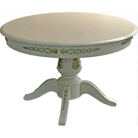 Обеденный раздвижной стол Дуэт люкс(Морилка/Эмаль)