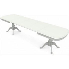 Обеденный раздвижной стол Фабрицио-2 исп. Мыло большой 3 вставки, Тон 9 (Морилка/Эмаль)