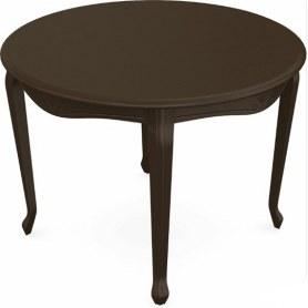 Обеденный раздвижной стол Кабриоль исп. Круг 1050, тон 7 (Морилка/Эмаль)