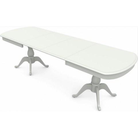 Обеденный раздвижной стол Фабрицио-2 исп. Мыло большой 2 вставки, Тон 9 (Морилка/Эмаль)