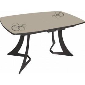 Кухонный стол Милан (рисунок круги)