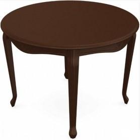 Обеденный раздвижной стол Кабриоль исп. Круг 1050, тон 3 (Морилка/Эмаль)