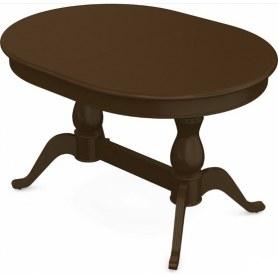 Обеденный раздвижной стол Фабрицио-2 исп. Овал 1600, Тон 4 (Морилка/Эмаль)