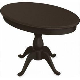 Обеденный раздвижной стол Фабрицио-1 исп. Эллипс, Тон 8 (Морилка/Эмаль)