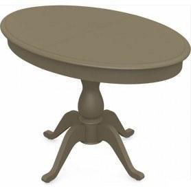 Обеденный раздвижной стол Фабрицио-1 исп. Эллипс, Тон 40 (Морилка/Эмаль)