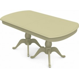 Обеденный раздвижной стол Фабрицио-2 исп. Мыло большой 3 вставки, Тон 10 (Морилка/Эмаль)