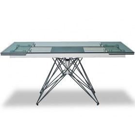 Кухонный стол раскладной T-041 (140) прозрачный