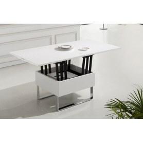 Кухонный стол-трансформер В2218 белый