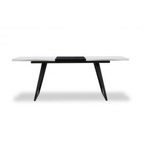 Кухонный стол DT-93 белый/черный